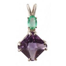 Amethyst Mini Magician Stone™ with Oval Cut Emerald
