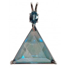 Aqua Aura Star of David™  with Oval Cut Blue Zircon