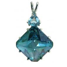 Aqua Aura Regular Magician Stone™  with Trillion Blue Topaz