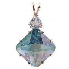 Aqua Aura Regular Magician Stone™  with Trillion White Topaz