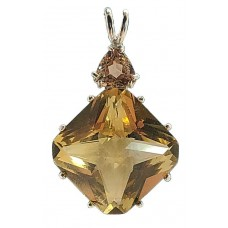 Citrine Regular Magician Stone™  with Trillion Golden Topaz