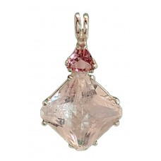 Danburite Small Magician Stone™  with Trillion Pink Tourmaline