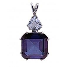 Tanzine Aura Earth Heart Crystal™  with Trillion Danburite
