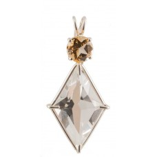Clear Quartz Ascension Star™  with Round Cut Citrine