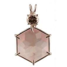 Rose Quartz Flower of Life™ with Round Cut Danburite