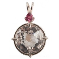 Clear Quartz Radiant Heart Crystal™ with Pink Tourmaline