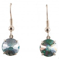 Aqua Aura Radiant Heart Crystal™ Earrings