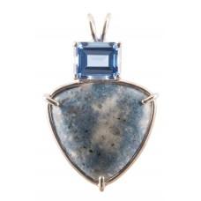 Blue Lepidolite with Emerald Cut Siberian Blue Quartz
