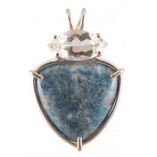 Blue Lepidolite with Marquis Cut Clear Quartz