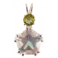 Angel Aura Star of Venus™ with Round Cut Peridot