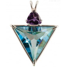 Aqua Aura Angelic Star™  with Trillion Cut Amethyst