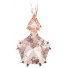 Danburite Star of Venus™ with Trillion Cut Morganite