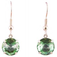 Tibetan Green Obsidian Radiant Heart™ Earrings
