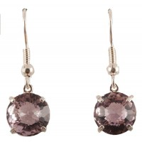 Amethyst Radiant Heart Crystal™ Earrings