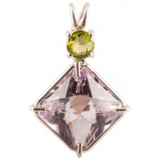 Amethyst Small Magician Stone™ with Round Cut Peridot