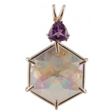 Angel Aura Flower of Life™ with Trillion Cut Amethyst