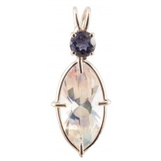 Angel Aura Infinite Eye™ with Round Cut Iolite