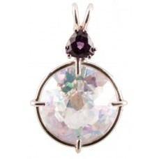 Angel Aura Radiant Heart Crystal™ with Trillion Cut Amethyst