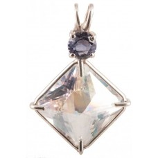 Angel Aura Small Magician Stone™ with Round Cut Iolite