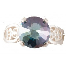 Aqua Aura Radiant Heart Crystal™ Ring