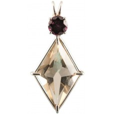 Citrine Ascension Star™ with Round Cut Rhodolite Garnet