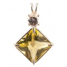 Citrine Small Magician Stone™ with Round Cut Danburite