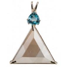 Clear Quartz Star of David™ with Trillion Cut Blue Topaz