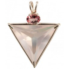 Rose Quartz Angelic Star™  with Oval Cut Pink Tourmaline