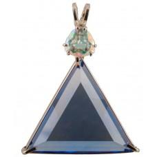 Siberian Blue Quartz Star of David™ with Trillion Cut Mystic Topaz