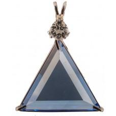 Siberian Blue Quartz Star of David™ with Trillion Cut Danburite