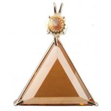 Siberian Gold Quartz Star of David™ with Round Cut Mystic Topaz