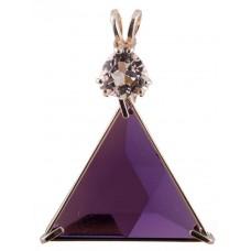 Siberian Purple Quartz Star of David™ with Trillion Cut Danburite